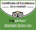 Starlight Motor Inn - TripAdvisor Certificate of Excellence 2014 Winner