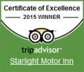 Starlight Motor Inn - TripAdvisor Certificate of Excellence 2015 Winner