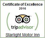 Starlight Motor Inn - TripAdvisor Certificate of Excellence 2016 Winner